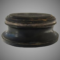 19th Century Wooden Base for Glass Dome Oval