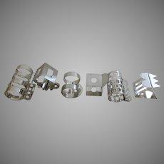 A set of Six (6) Napkin Rings or Serviette Rings Designer Nathalie du Pasquier for Bodum.