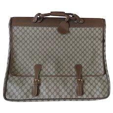 Vintage Gucci Monogram Garment Bag Carry On