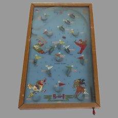 Vintage Large Size POOSH - M - UP BIG 5 TableTop Baseball and Football Pinball Game