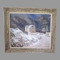 "Large Fremont Ellis Oil Painting ""January in New Mexico"""