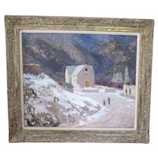 """Large Fremont Ellis Oil Painting """"January in New Mexico"""""""