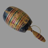 Vintage Large Balero Multi-Color Wood Mexican Toy