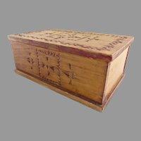 Vintage Small Folk Art Chip-Carved Box