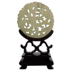 Vintage Miniature Chinese Jadeite Table Screen