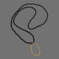 Necklace Small Dark Brown Wood Beads by CPL Jewelry