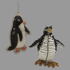 Beaded Penguin and Sequin Penguin Ornament