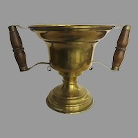 19th Century Hot Coal Carrier Urn Handled Brass Planter Jardiniere