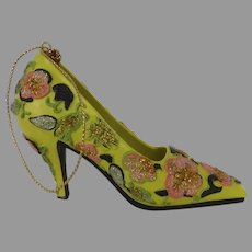 Vintage Metropolitan Museum of Art Shoe Pump Ornament