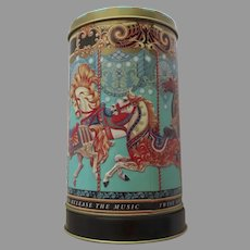 Vintage Fortnum & Mason Tin Biscuit Cookie Tin Musical Merry Go Round