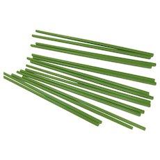 Eight Pairs Chinese Chopsticks Green