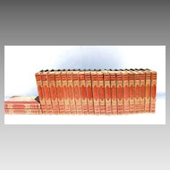 22 Vol. Waverly Novels by Sir Walter Scott Leather Gilt Tooling