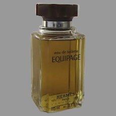 Vintage Eau de Toilette Equipage Hermes 3.8 fl.oz Bottle Made in France
