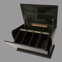 Vintage 1930's Bakelite Dark Green Cigarette Holder Dispenser Lucky Strike Camel Old Gold Chesterfield Serpentine