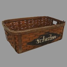 Vintage Painted Advertising Schulze Baking Co. Chicago Bread Basket