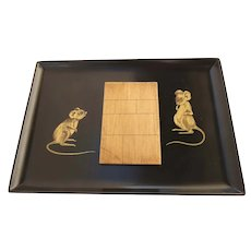 Vintage Couroc Of Monterey Mouse Cheese Board Serving Tray