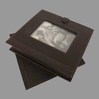 Vintage Un-used Restoration Hardware Leather Box
