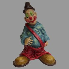 "Vintage Signed Alvarez Mexico Paper Mache 16"" Hobo Clown Great Child's Decoration"