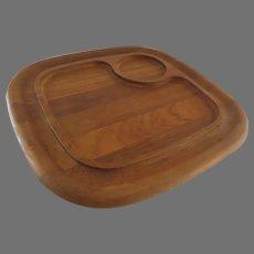 Vintage Wooden Serving Tray Board by Dansk Dip Holder