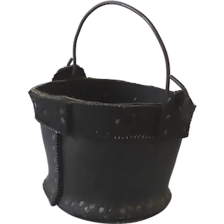 Vintage Recycled Tire Small Bucket Planter Handle