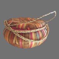 Vintage Wicket Storage Sewing Basket