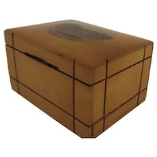 19th Century French Sycamore Bank Box Souvenir Palais de Fontainebleau Secret Puzzle Opening