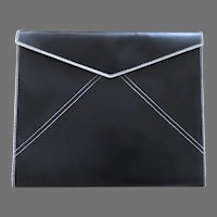 Franklin Covey 365 Padfolio Note Pad Cover Black Faux Leather Envelope Form