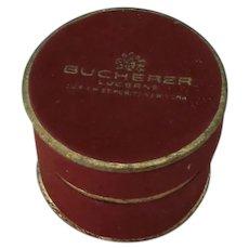 VINTAGE Bucherer Lucerne Zurich New York Round Ring Box Empty