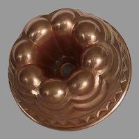 Christian Wagner Tin Lined Copper Bundt Cake Pan, Vintage West Germany Mould, Rein Kupfer Mold Star Center