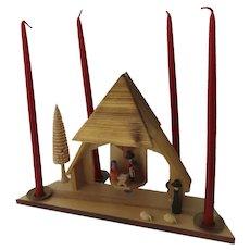 Vintage Erzgebirge German Nativity Creche Candles