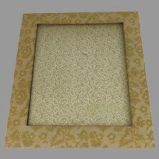 Vintage Brocade Fabric Picture Frame Easel Back