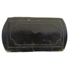 19th Century Papier Mache Silver Inlaid Line Snuff Box As is Survivor Restoration Study