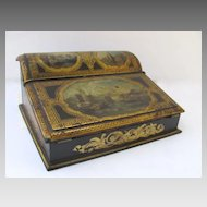 Beautiful Papier Mache Writing Box