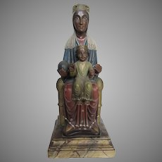 Ceramic Painted Madonna Mother and Child