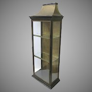 Roof Top Narrow Display Case Cabinet