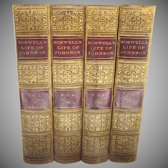 The Life of Samuel Johnson by James Boswell 4 Volumes