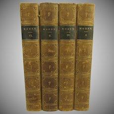 Poetical Works of Thomas Moore 4 Volumes 1856