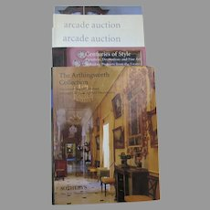 Vintage Sotheby's Auction Catalogs Centuries of Style, Arcade Auction, The Arthingworth Collection