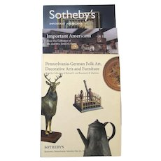 Vintage Sotheby's Auction Catalogs: Important Americana (2), Pennsylvania-German Folk Art