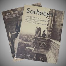 Two Vintage Sotheby's Catalogues La Photographie III and Lewis Carroll's Alice