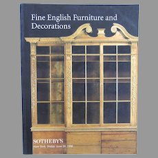 Vintage Sotheby's Catalogue Fine English Furniture and Decorations
