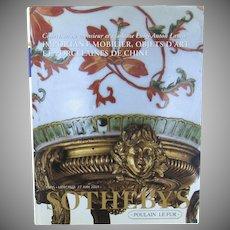 Vintage Sotheby's Catalogue  Mobilier, Objets  D'Art et  Porcelaines De Chine, Collection DE MONSIEUR ET MADAME LUIGI ANTON LAURA