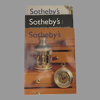 Sotheby's Auction Catalogues: Watches, Wristwatches & Clocks 2001-2002, Set of 3