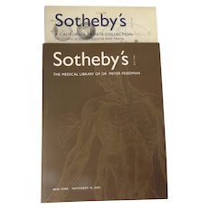 Sotheby's Auction Catalogues Medical Library of Dr. Meyer Friedman & A California Private Collection