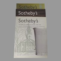 Sotheby's Auction Catalogues: 100 Years of American Silver, Collection of Richard & Joy Kanter,  Important Americana, Set of 3