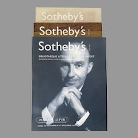Sotheby's Auction Catalogues, Set of 3, Bibliotheque Litteraire Charles Hayoit, Bibliotheque Litteraire Gwenn-Ael Bollore, Fine Books & Manuscripts