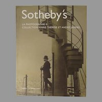 Sotheby's Auction Catalogue La Photographie II Collection Marie-Therese et Andre Jammes