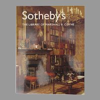Sotheby's Auction Catalogue: The Library of Marshall B. Coyne