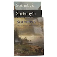 Sotheby's Auction Catalogues: American Paintings, Drawings & Sculpture, Revolution in Art, 19th Century European Art, Set of 3