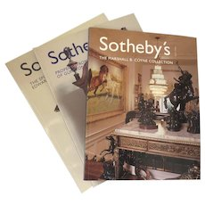 Three Vintage Sotheby's Catologues Marshall B. Coyne Collection, Gunston Hall Plantation and Sporting Library of Edward Sands Litchfield
